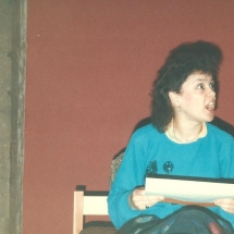 Bedroom Farce Rehearsal Geraldine
