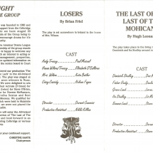 Programme Losers & The Last of the Mohicans 002