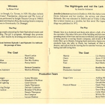 Programme Winners & The Nightingale and not the Lark 002
