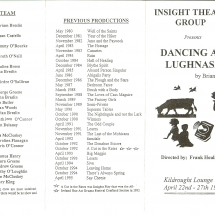 Programme Dancing At Lughnasa 001