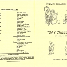 Programme Say Cheese 001